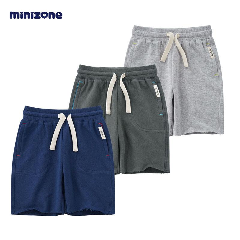 minizone儿童纯棉短裤夏装男童薄款休闲外穿短裤运动短裤M1301