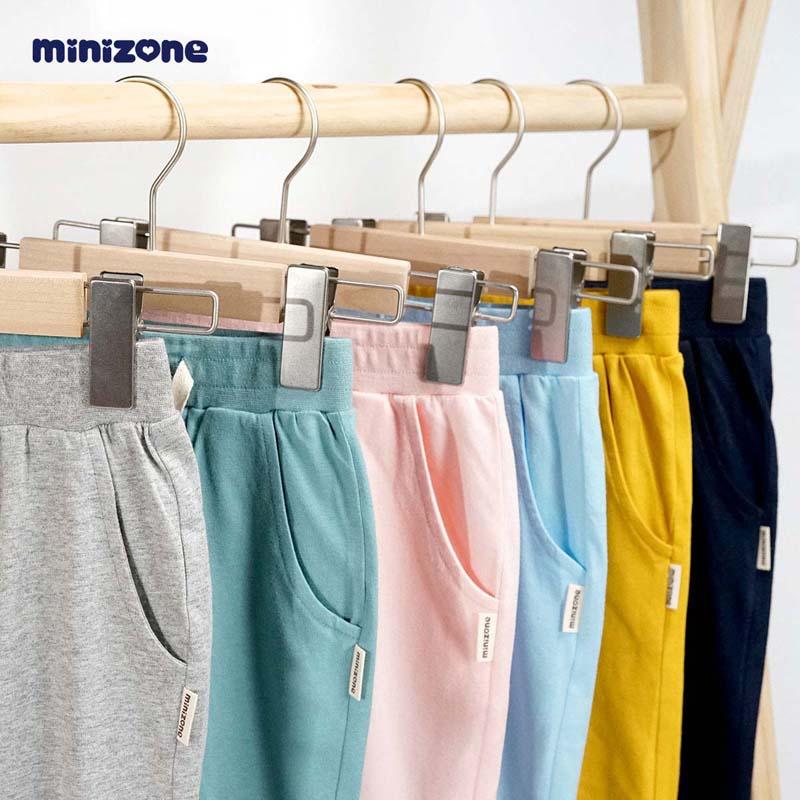 minizone儿童七分裤夏装短裤薄款纯棉童装新外穿运动裤子潮J1019