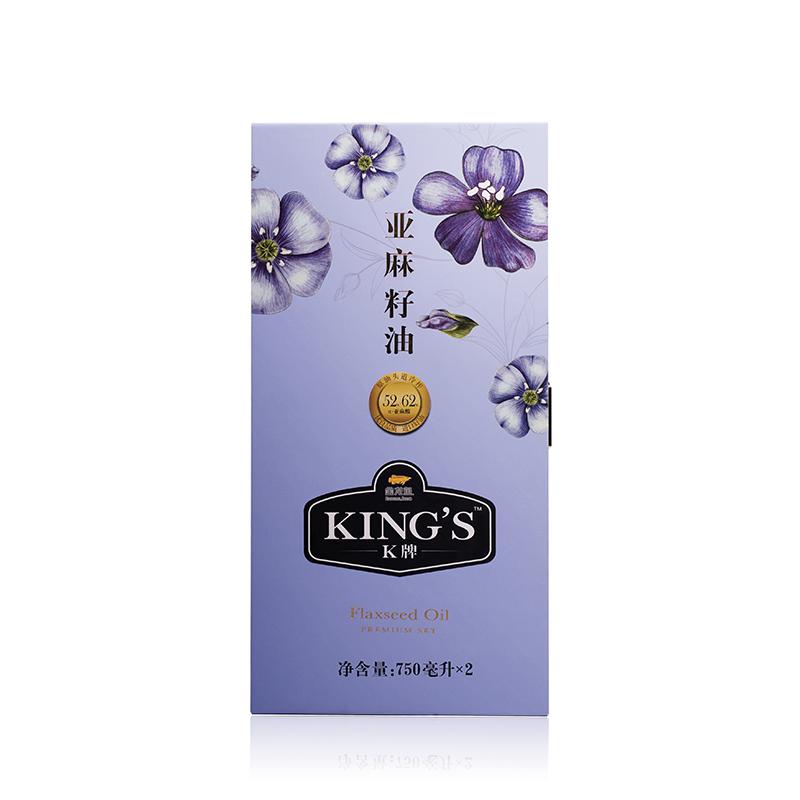 King's 亚麻籽油750ML*2