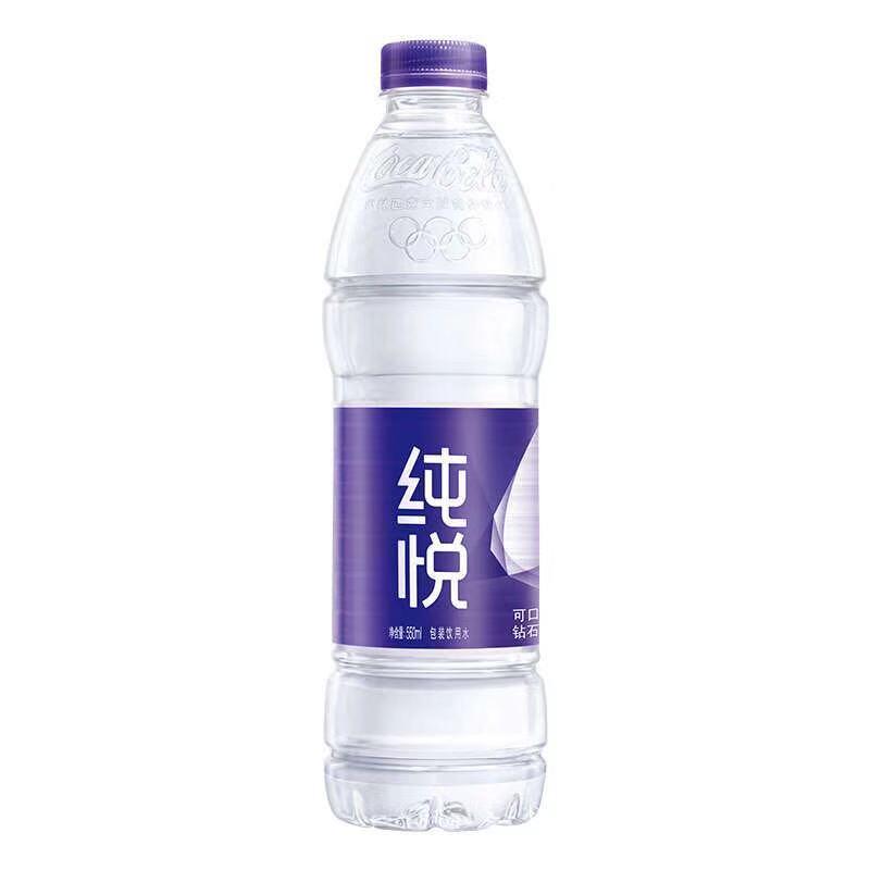 可口可乐纯悦饮用纯净水550ml((湖南省县级区域同一地址400件起售,配送范围请浏览详情页))
