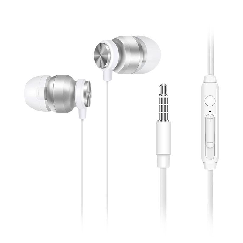 惠普(HP) DHH-3113耳机 有线入耳式降噪音乐耳机 白色