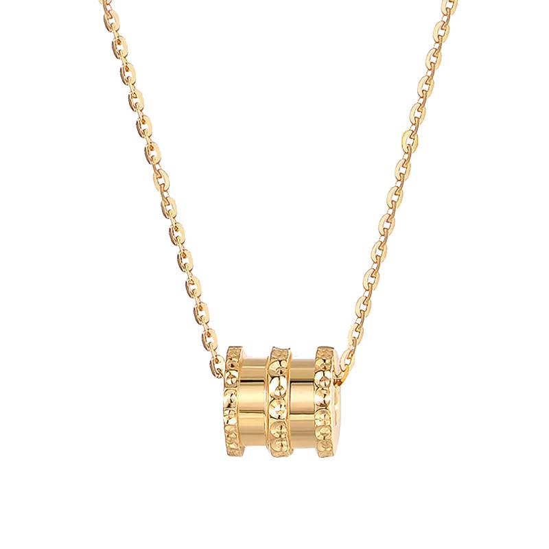 C&C 小蛮腰项链女转运潮镀18K金金色吊坠锁骨链网红爆款礼物佳选CCNLHQ05GD
