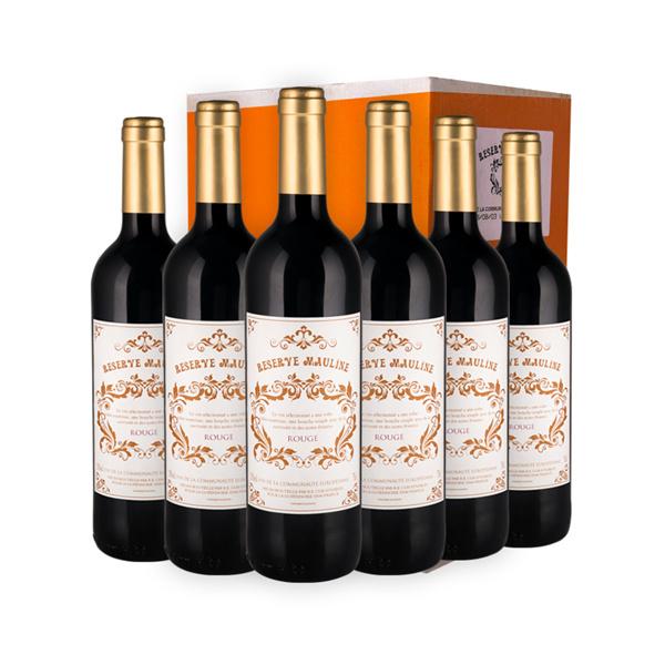 法国原瓶原装进口红酒  慕林世家珍藏红葡萄酒整箱6支装