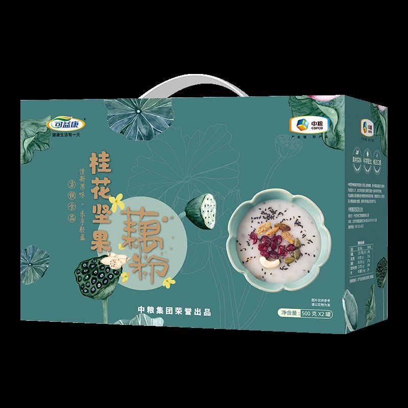 中粮可益康桂花坚果藕粉礼盒