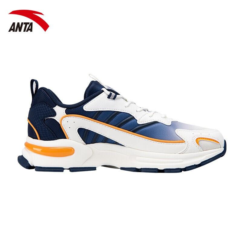 安踏运动鞋男2020夏季新款网面老爹鞋复古增高减震耐磨休闲男鞋112028899