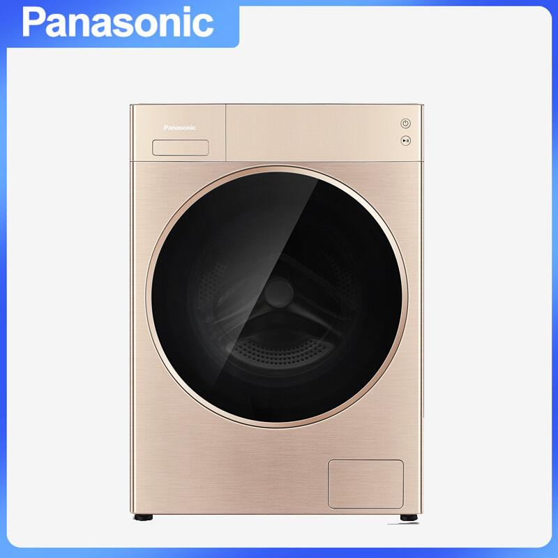 松下(Panasonic) XQG100-L16R 滚筒洗衣机 全自动泡沫净app远程智控智能投放 10.0kg
