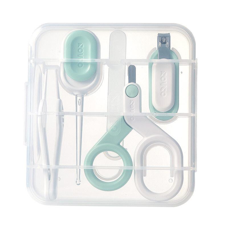 日康宝宝专用护理指甲剪套装防夹肉宝宝指甲钳节能LED发光耳勺