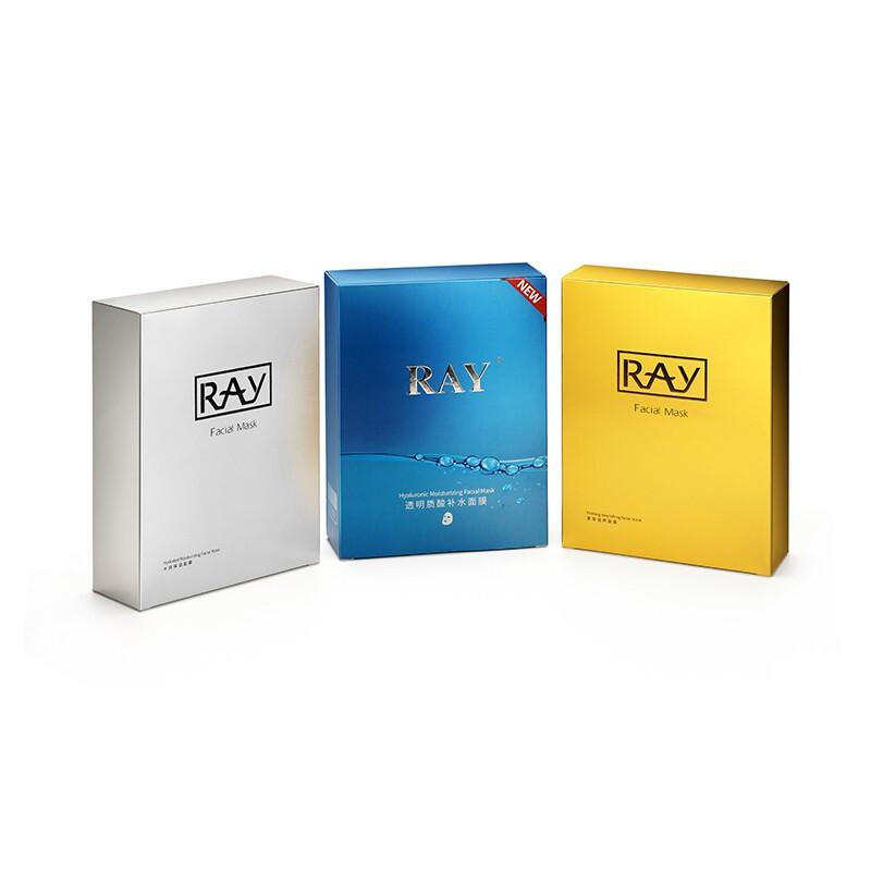 RAY面膜男女 深层补水 水润保湿 紧致滋养蓝色+金色+银色 30片/3盒