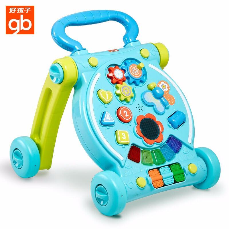 好孩子婴儿学步车手推车多功能防侧翻音乐助步车 多功能音乐学步车