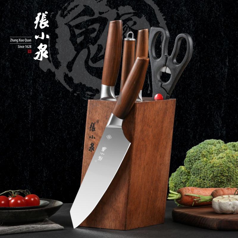 张小泉鬼冢·虎系列套刀六件套 家用厨房套刀 D31410100