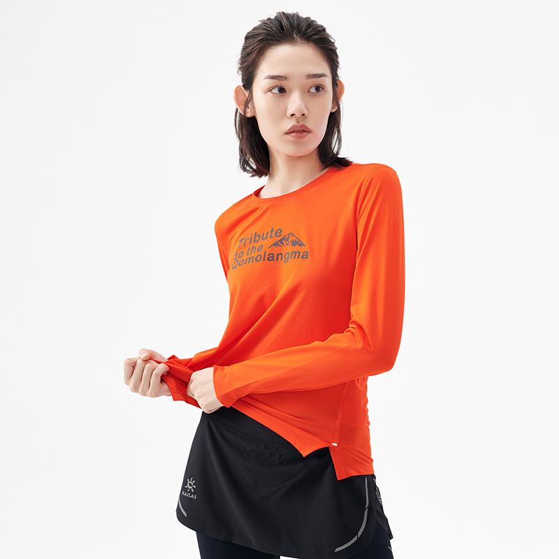 Kailas 凯乐石 女款致敬珠峰徒步旅行功能长袖T恤 KG2017605