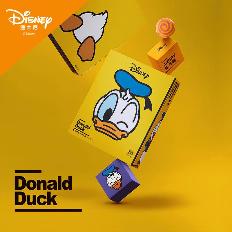 迪士尼 快乐明星月饼礼盒 480g(花式酥皮黑芝麻味月饼80g*2、花式酥皮蛋黄绿豆沙月饼80g*2、花式酥皮椰蓉月饼80g*2)