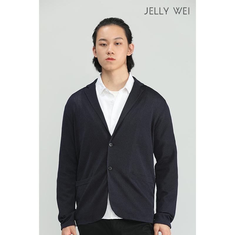 秋季 新款 JELLY WEI 原创设计师品牌 毛织  单西 舒适 亲肤 男装外套